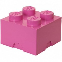 LEGO Storage Brick Boîte de Rangement rose x4