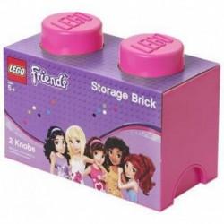 LEGO Storage Brick Boîte de Rangement rose x2