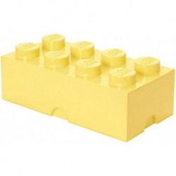 LEGO Storage Brick Boîte de Rangement jaune pale pastel x8