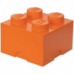 LEGO Storage Brick Boîte de Rangement orange x4