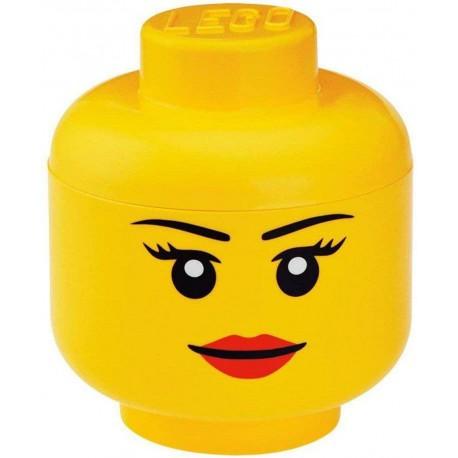 LEGO Storage Brick Boîte de Rangement Tête Fille (Large)