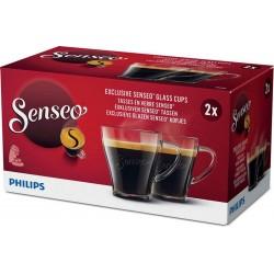 Senseo 2 Tasses à café en verre CA6510/00