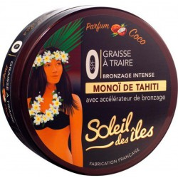 Soleil Des îles Graisse à Traire Bronzage Intense SPF 0 Parfum Coco (lot de 3)