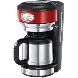 Russell Hobbs Cafetière Isotherme Retro Rouge Urbain 1000W 8 Tasses 21710-56