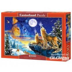 Puzzle Howling Wolves, Puzzle 1000 pièces