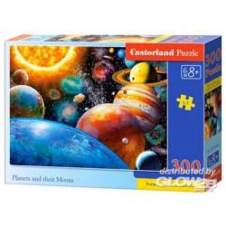 Puzzle Planètes et leurs lunes, puzzle 300 pièces