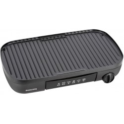 Philips Daily Collection Plancha Grill Noir 2000W HD6321/20