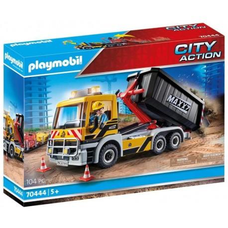 PLAYMOBIL 70444 City Action - Camion avec Benne et Plate-forme Interchangeables