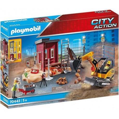PLAYMOBIL 70443 City Action - Mini-Pelleteuse et Chantier