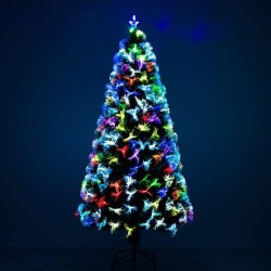 Sapin de Noël artificiel lumineux LED multicolore 180cm