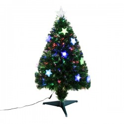 Sapin de Noël artificiel lumineux LED multicolore 90cm