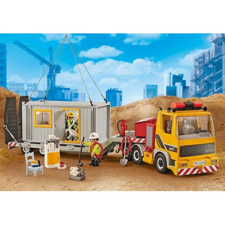 PLAYMOBIL 9898 City Action - Camion avec Conteneur Aménagé 9887