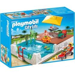 PLAYMOBIL 5575 City Life - Piscine avec Terrasse