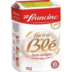 Francine Farine de Blé Tous Usages T45 1Kg (lot de 8)
