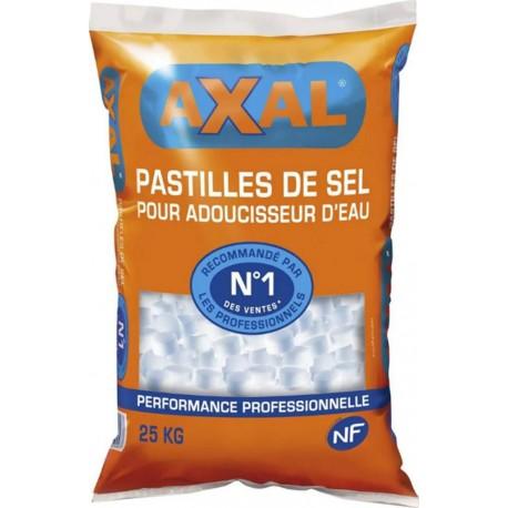 Axal Pastilles De Sel Pour Adoucisseur d'Eau N°1 Des Ventes 25Kg