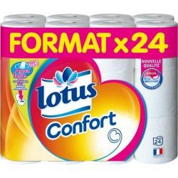 Lotus Papier Toilette Confort Aquatube 24 Rouleaux (papier blanc)