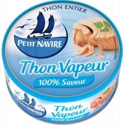 Petit Navire Thon Vapeur 100% Saveur 130g (lot de 5)