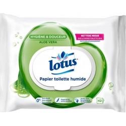 Lotus Papier Toilette Humide Aloé Véra 42 Lingettes (lot de 6)