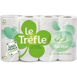 """Le Trèfle Papier Toilette Maxi Feuille """"Aloé Véra"""" 8 rouleaux (lot de 3)"""