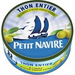 Petit Navire Thon Entier à l'Huile d'Olive Vierge Extra 160g (lot de 5)