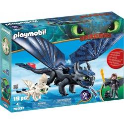 PLAYMOBIL 70037 Dragons - Krokmou et Harold avec Bébé Dragon