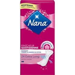 Nana Protège-Lingeries Extra Long Fraîcheur Quotidienne x24 (lot de 4)