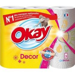 """Okay """"Decor"""" Essuie-tout 3 Rouleaux (lot de 3)"""