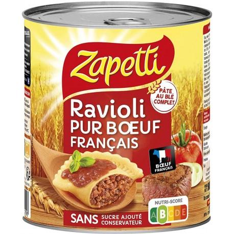 Zapetti Ravioli Pur Bœuf Français Blé Complet 4/4 800g 3021690029093 (lot de 6)