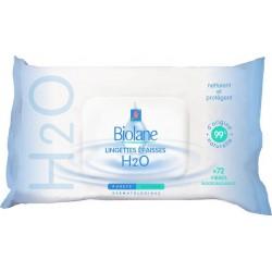 Biolane H2O Lingettes au Lait de Toilette 72 unités