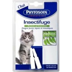 Phytosoin Pipettes Insectifuges Action Préventive pour Chat (lot de 4 pipettes)