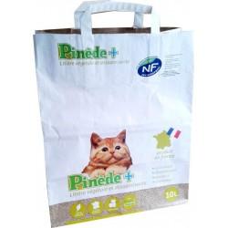 Pinède+ Litière Végétake et Désodorisante Pour Chat 10L (lot de 4 sacs de 10L)