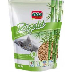 Riga Rigalit Bamboo Litière 100% Végétale Pour Chat Hyper Absorbante 2,5Kg (lot de 2)