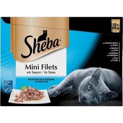 SHEBA Chat Mini Filets Saveur Océane 12x85g