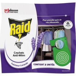 Raid Crochets Anti-Mites Lavande x2 (lot de 3)