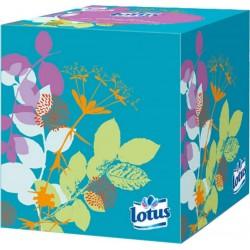 Lotus Boîte Cubique Mouchoirs (lot de 6)