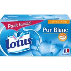 Lotus Pur Blanc Pack Familial 140 Mouchoirs (lot de 3)