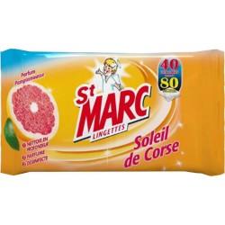 St Marc Multi Usages Soleil De Corse 40 Lingettes (lot de 6)