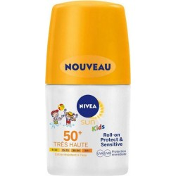 Nivea Sun Kids Roll-On Protect Et Sensitive SPF50 50ml (lot de 2)