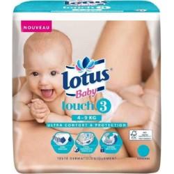 "Lotus Couches Baby ""Touch 3"" (4-9Kg) X44 (lot de 2)"
