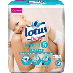 "Lotus Couches Baby ""Touch 5"" (12-22Kg) X20 (lot de 2)"