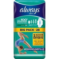 """Always Ultra Serviettes Hygiéniques """"Taille 1 Normal"""" Big Pack x28 (lot de 2)"""