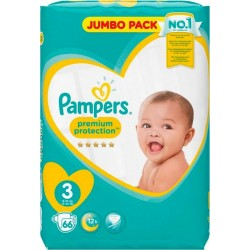 Pampers Couches New Baby Value T3 (6-10Kg) x66 (lot de 2)