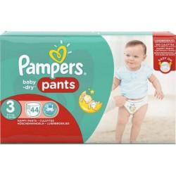 Pampers Couches Baby-Dry Pants Géant T3 (6-11Kg) x44 (lot de 2)
