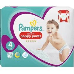 Pampers Couches Active Fit Pants T4 Géant (9-15Kg) x32 (lot de 2)