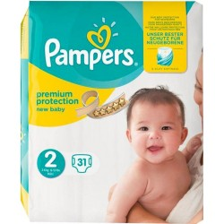 Pampers Couches New Baby T2 x31 (3-6Kg) x31 (lot de 2)