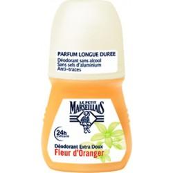 """Le Petit Marseillais """"Déodorant Bille Soin Douceur Féminin"""" Fleur d'Oranger 50ml (lot de 3)"""