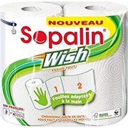 """Sopalin """"Wish"""" Essuie-tout 2 Rouleaux (lot de 3)"""