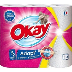 """Okay """"Adapt'"""" Essuie-tout 3 Rouleaux (lot de 3)"""