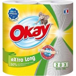 """Okay """"Extra Long"""" Essuie-tout 4 Rouleaux (lot de 3)"""