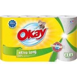 """Okay """"Extra Long"""" Essuie-tout 4 Rouleaux (lot de 4)"""